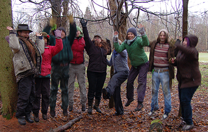 Forest school volunteers